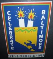 Carte Postale - Celebrate Baltimore - 1797 - Bicentennial - 1997 - Publicité