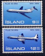 ISLANDE - A32/33** - CINQUANTENAIRE DE L'AVIATION ISLANDAISE - Poste Aérienne