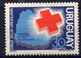 URUGUAY - 840** - 75è ANNIVERSAIRE DE LA CROIX ROUGE URUGUAYENNE - Uruguay