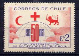 CHILI - 335** - 50è ANNIVERSAIRE DES LIGUES DE CROIX ROUGE - Chili