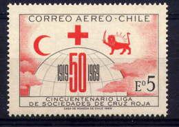 CHILI - A256** - 50è ANNIVERSAIRE DES LIGUES DE CROIX ROUGE - Chili
