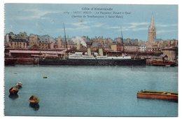 """SAINT MALO--Le Paquebot """"DINARD"""" à Quai --Service Southampton à Saint Malo--carte Colorisée.....à Saisir - Saint Malo"""