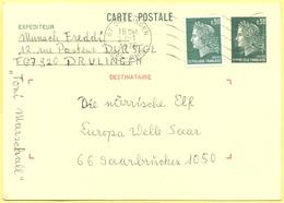 FRANCIA - France - 1976 - 30c Marianne De Cheffer + 30c - Carte Postale - Intero Postale - Entier Postal - Postal Statio - Biglietto Postale