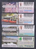 1350(4) RIJEKA Croatia- Croatie. Croacia. Croazia. Kroatien.- 4 Bus Tickets.. - Bus