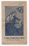 Santino Antico Sant'Anna Ai Gradini Gesù E Maria - NAPOLI - Religione & Esoterismo
