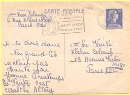FRANCIA - France - 1959 - 20F Marianne De Muller + Flamme Caen, Ville Ducale - Carte Postale - Intero Postale - Entier P - Cartes Postales Types Et TSC (avant 1995)