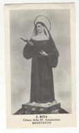 Santino Antico Santa Rita Da Cascia Da BENEVENTO - Religione & Esoterismo