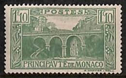 [811392]Monaco 1924 - N° 97, 1F10 Vert, Pont. - Monaco