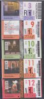 1350(5) RIJEKA Croatia- Croatie. Croacia. Croazia. Kroatien.- 4 Bus Tickets (2010-2011).. - Bus