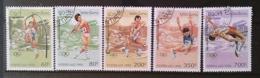 [811778]Laos 1995 - N° 1173/1177, Jeux Pré-Olympiques,SC, Saut à La Perche, Javelot, Marteau - Laos
