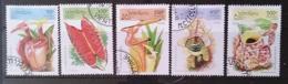 [811781]Laos 1995 - N° 1191/1195, Plante Insectivore, SC - Laos