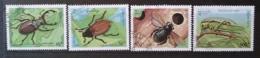 [811782]Laos 1995 - N° 1196/1199, Insectes, SC - Laos