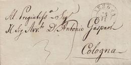 Z154 - Lettera Con Testo Del 1848 Da Verona A Cologna, Tassata 3 Kr In Arrivo. - Italia