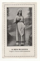 Santino Antico Santa Zita Da LUCCA - Religion & Esotericism