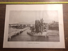 DOCUMENT SUISSE GENEVE LES TOURS DE SAINT PIERRE - Old Paper