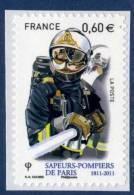 601  Pompiers De Paris Et Lance à Incendie  -  Avec Marges  Neuf **  2011 ADHESIF + - Adhésifs (autocollants)