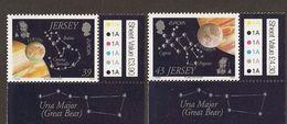 """JERSEY - EUROPA 2009 - TEMA \""""ASTRONOMIA\"""" - SERIE Con LOGO \"""" EUROPA \"""" 2 V. -DENTADOS (PERFORATED) - 2009"""
