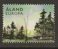 "ALAND  - EUROPA 2011 - TEMA ANNUALE ""LE FORESTE '.- SERIE Da 1  Francobolli  -   DENTATAS - Europa-CEPT"