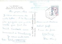 LES ROSAIRES Cotes Du Nord 20c Marianne De Cocteau Yv 1282 Ob 1964 Ob Hexagone Recette Auxiliaire Rurale Lautier E7/E8 - Lettres & Documents