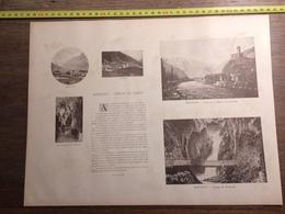 DOCUMENT SUISSE MARTIGNY GORGES DU TRIENT BEX LES PLANS SAINT MAURICE - Vieux Papiers