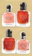 Carte Parfumée Avec 2 Patchs Replica Perfume Card * EMPORIO ARMANI * R/V - Perfume Cards