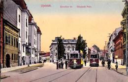 UJVIDÉK / NOVI SAD : ELISABETH PLATZ : ARRÊT Du TRAMWAY ÉLECTRIQUE / TRAM STATION ~ 1910 (aa553) - Serbie