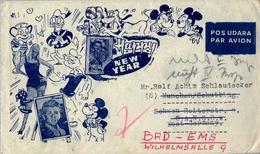 1962 , INDONESIA , BANGKALAN - BAD - EMS , SOBRE CIRCULADO , WALT DISNEY , CÓMICS - Indonesia