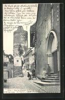 AK Orbe, Rue Du Chateau Et Portail De L'Eglise - VD Vaud
