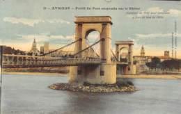 84 - AVIGNON - Profil Du Pont Suspendu Sur Le Rhône - Avignon (Palais & Pont)