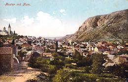 MOSTAR Mit HUM - CARTE POSTALE VOYAGÉE En 1916 / POSTCARD MAILED In 1916 (aa554) - Bosnie-Herzegovine