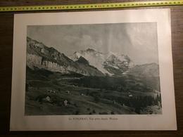 DOCUMENT SUISSE JUNGFRAU WENGEN WENGERNALP EIGER ET MONCH - Old Paper