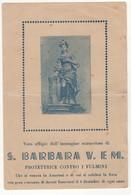 Santino Antico Santa Barbara Da Amaroni - Catanzaro - Religione & Esoterismo