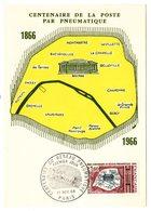 Carte Maximum 1966 - Centenaire Du Réseau Pneumatique YT 1498 - Paris - Cartes-Maximum