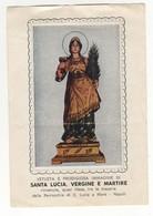 Santino Antico Santa Lucia Vergine E Martire Da Napoli - Religione & Esoterismo