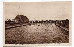 AUBIGNY SUR NERE -- 1948 --Parc Des Sports--Piscine Et Gymnase (animée) - Aubigny Sur Nere