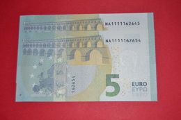 2x 5 EURO AUSTRIA N010A1 Pareja Radar NA1111162645 / NA1111162654  Perfect UNC - EURO