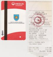 1350(9) SLOVENIA / SLOVENIE / ESLOVENIA..- 2 Bus Tickets Of Koper / Capodistria (2012). - Bus
