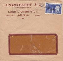 France LEVASSEUR & Cie Pépiniéristes, Line Cds. & Slogan Flamme ORLEANS-GARE 1949 Cover Lettre Abbeye Saint Wandrille - France