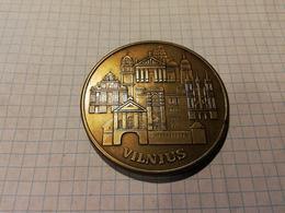 Lithuania Lietuva, International Building Organization, ICC, Vilnius, Medal 6cm - Jetons & Médailles