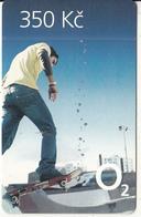 CZECH REPUBLIC - Skateboard, O2 Prepaid Card 350 Kc, Exp.date 31/12/13, Used - Czech Republic