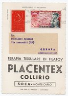 DEAR DOCTOR TYPE PUBL. PLACENTEX COLLIRIO / SOCA - MONTE-CARLO VUE GENERALE/STADIUM - Monaco