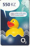 CZECH REPUBLIC - Duck, O2 Prepaid Card 550 Kc, Exp.date 31/12/14, Used - Czech Republic