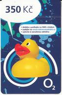 CZECH REPUBLIC - Duck, O2 Prepaid Card 350 Kc, Exp.date 31/12/15, Used - Czech Republic