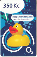 CZECH REPUBLIC - Duck, O2 Prepaid Card 350 Kc, Exp.date 31/12/14, Used - Czech Republic
