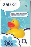 CZECH REPUBLIC - Duck, O2 Prepaid Card 250 Kc, Exp.date 31/12/15, Used - Czech Republic