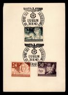 DEUTSCHES REICH GENERAL GOUVERNMENT 1940 LUBLIN Alfred Wegener Germany General Goverment - Allemagne