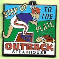 Pin's Outback Steakhouse Kangourou Baseball Step Up To The Plate - 4BB30 - Baseball