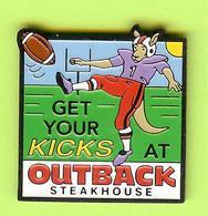 Pin's Outback Steakhouse Kangourou Get Your Kicks At- 7BB10 - Football