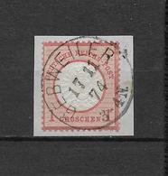 """LOTE 1830   ///   (C020)  ALEMANIA IMPERIO  1872   YVERT Nº: 16  CON FECHADOR DE """"GEBWEILER"""" - Gebraucht"""