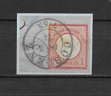 "LOTE 1830   ///   (C020)  ALEMANIA IMPERIO  1872   YVERT Nº: 16  CON FECHADOR DE ""COBLENZ"" - Gebraucht"